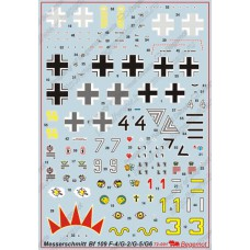BGM-72001 Begemot decals 1/72 Messerschmitt Bf-109F-4 /G-2/G-5/G-6 fighters