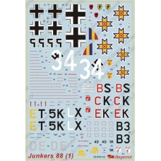 BGM-72010 Begemot decals 1/72 Junkers Ju-88 German bomber decal sheet (part 1)
