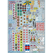 BGM-72032 Begemot decals 1/72 Mikoyan MiG-29 Jet Fighter decal sheet (part 1)