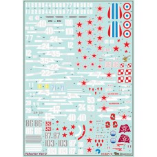 BGM-72047 Begemot decals 1/72 Yakovlev Yak-3 Soviet WW2 fighter decal sheet