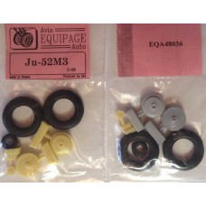 EQA-48036 Equipage 1/48 Rubber Wheels for Junkers Ju-52/3m