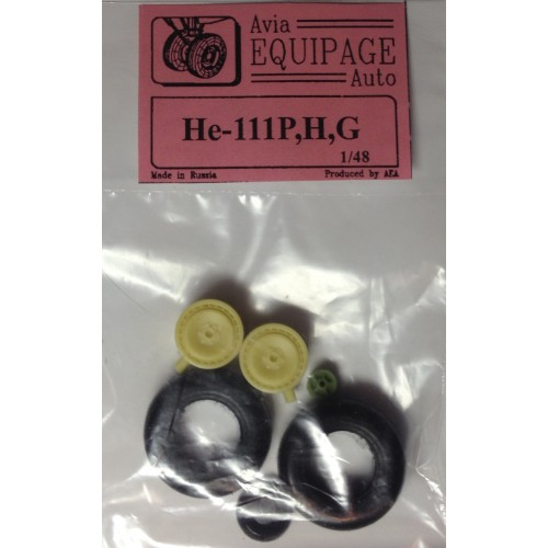 EQA-48050 Equipage 1/48 Rubber Wheels for Heinkel He-111P / He-111H / He-111R