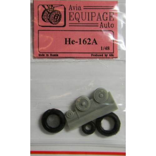 EQA-48054 Equipage 1/48 Rubber Wheels for Heinkel He-162A