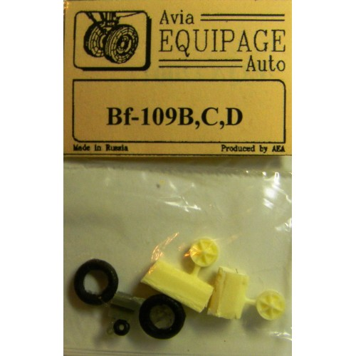 EQA-72001 Equipage 1/72 Rubber Wheels for Messerschmitt Bf-109B / Bf-109C / Bf-109D