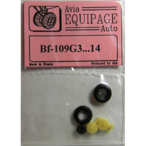 EQA-72004 Equipage 1/72 Rubber Wheels for Messerschmitt Bf-109G-3 ... to Bf-109G-14