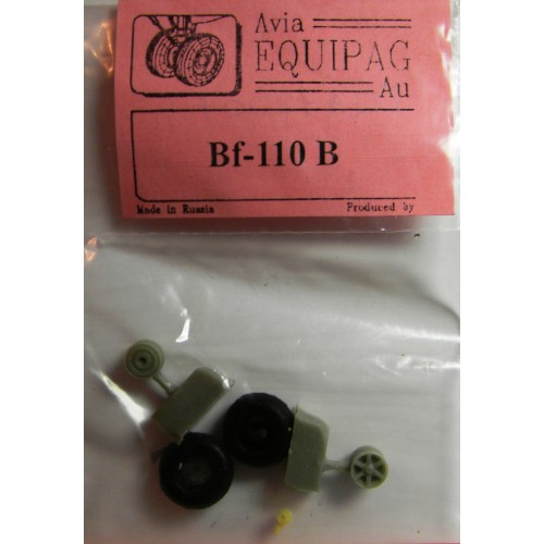 EQA-72007 Equipage 1/72 Rubber Wheels for Messerschmitt Bf-110B