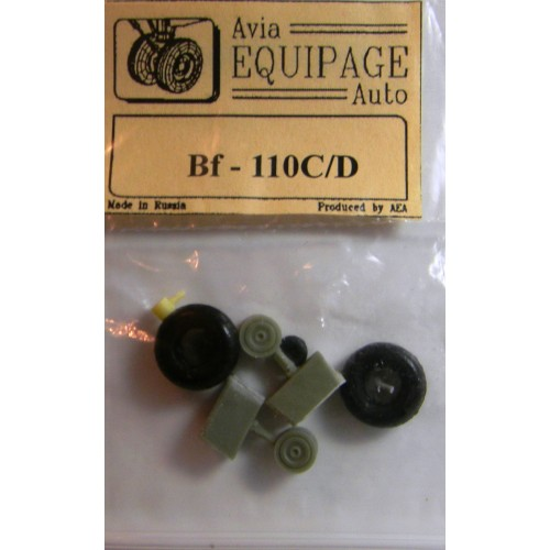 EQA-72008 Equipage 1/72 Rubber Wheels for Messerschmitt Bf-110C / Bf-110D