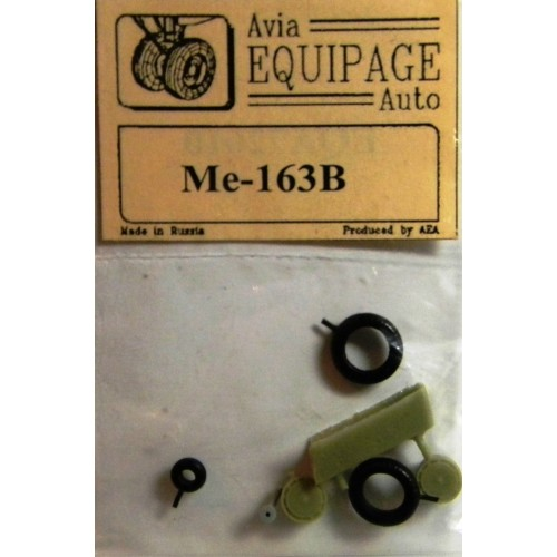 EQA-72010 Equipage 1/72 Rubber Wheels for Messerschmitt Me-163B