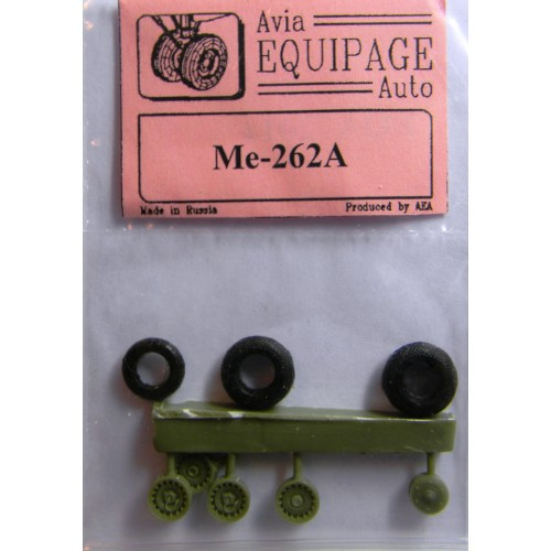 EQA-72014 Equipage 1/72 Rubber Wheels for Messerschmitt Me-262A