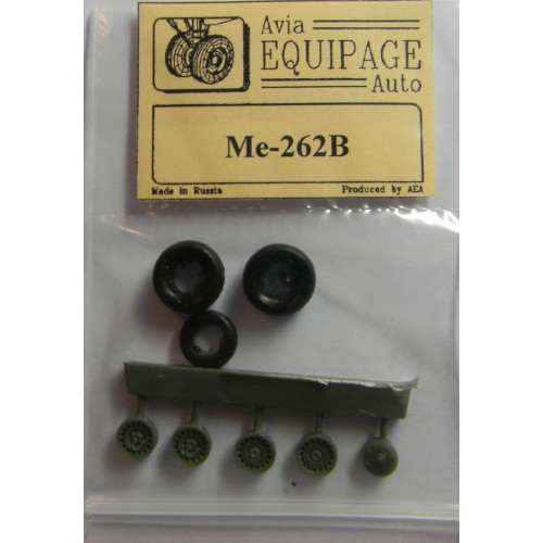 EQA-72015 Equipage 1/72 Rubber Wheels for Messerschmitt Me-262B