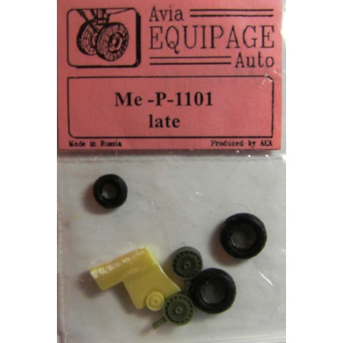 EQA-72021 Equipage 1/72 Rubber Wheels for Messerschmitt Me P.1101 late