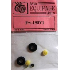 EQA-72024 Equipage 1/72 Rubber Wheels for Focke-Wulf FW-190V1 / FW-190V2