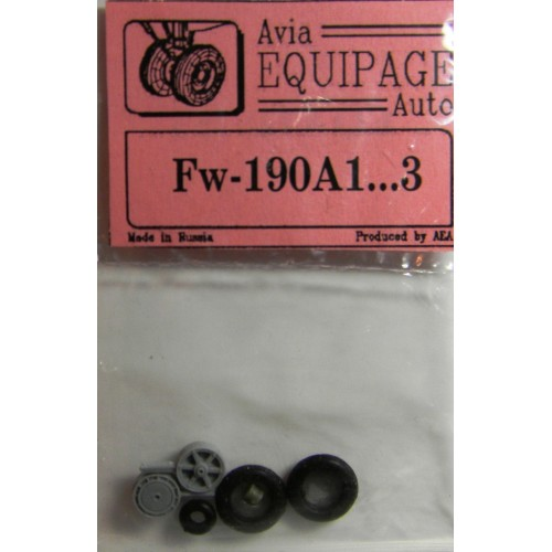 EQA-72025a Equipage 1/72 Rubber Wheels for Focke-Wulf FW-190A1 ... FW-190A3