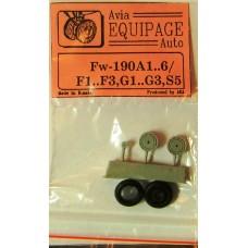 EQA-72025b Equipage 1/72 Rubber Wheels for Focke-Wulf FW-190A1 ... FW-190A6/ F1..F3 , G1..G3 , S5