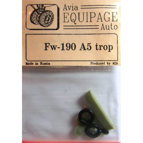 EQA-72026 Equipage 1/72 Rubber Wheels for Focke-Wulf FW-190A5 (trop)