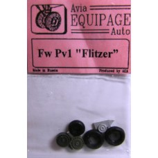 EQA-72034 Equipage 1/72 Rubber Wheels for Focke-Wulf FW PV1 Flitzer