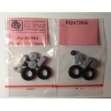 EQA-72036 Equipage 1/72 Rubber Wheels for Junkers Ju-52/3m