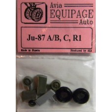 EQA-72038 Equipage 1/72 Rubber Wheels for Junkers Ju-87A / Ja-87B , Ju-87C, Ju-87R1