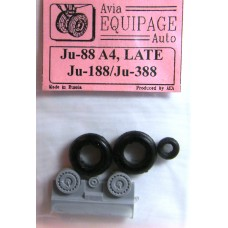 EQA-72041 Equipage 1/72 Rubber Wheels for Junkers Ju-88 late / Ju-188 / Ju-388