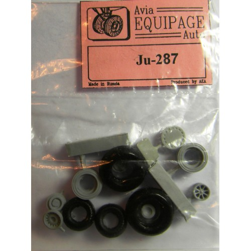 EQA-72044 Equipage 1/72 Rubber Wheels for Junkers Ju-287