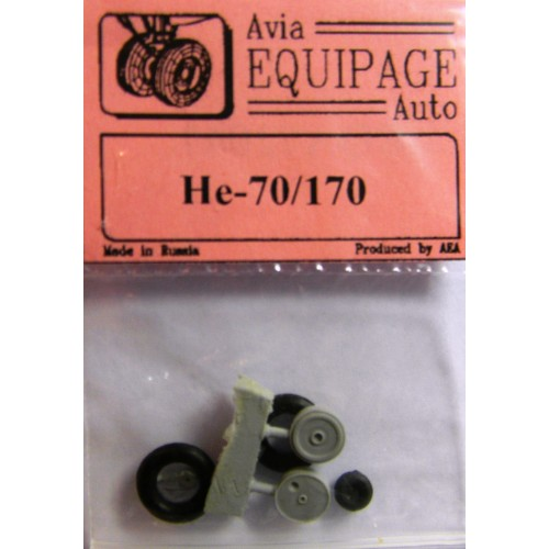 EQA-72047 Equipage 1/72 Rubber Wheels for Heinkel He-70 / He-170