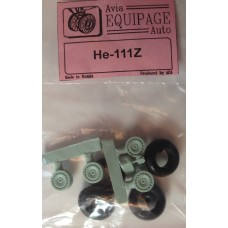 EQA-72051 Equipage 1/72 Rubber Wheels for Heinkel He-111Z