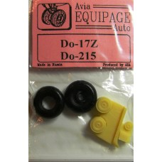 EQA-72060 Equipage 1/72 Rubber Wheels for Dornier Do-17Z / Do-215