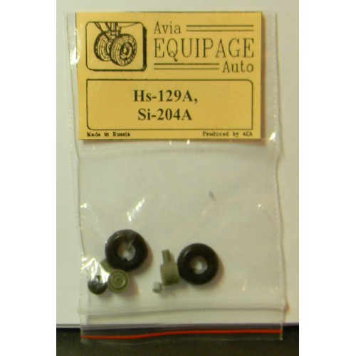 EQA-72066 Equipage 1/72 Rubber Wheels for Henschel Hs-129A
