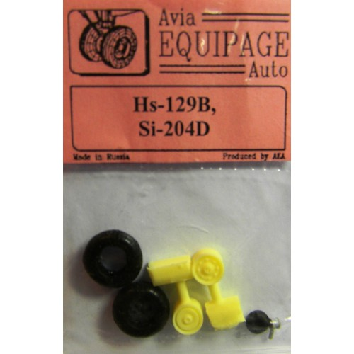 EQA-72067 Equipage 1/72 Rubber Wheels for Henschel Hs-129B
