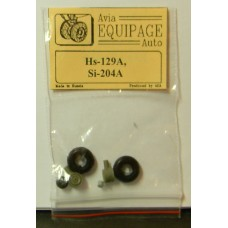EQA-72076 Equipage 1/72 Rubber Wheels for Siebel Si-204A