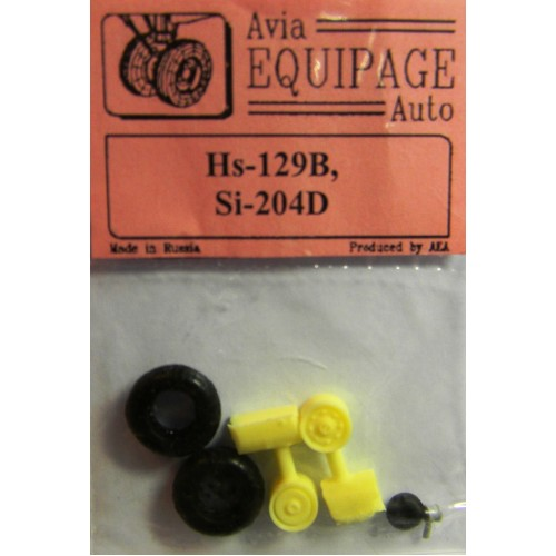 EQA-72077 Equipage 1/72 Rubber Wheels for Siebel Si-204D
