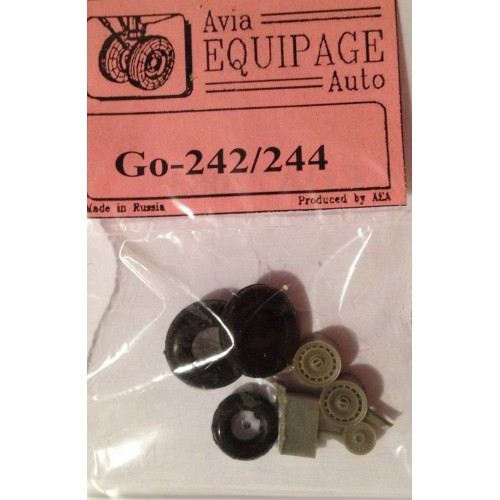 EQA-72083 Equipage 1/72 Rubber Wheels for Gotha Go-242 / Go-244