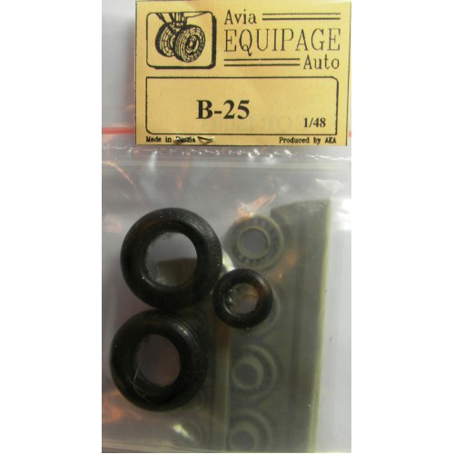 EQB-48003 Equipage 1/48 Rubber Wheels for North American B-25 Mitchell