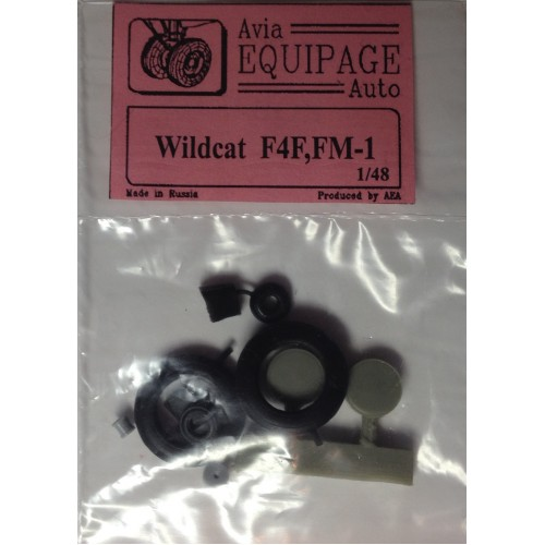 EQB-48018 Equipage 1/48 Rubber Wheels for Grumman F4F / FM-1 Wildcat