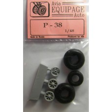 EQB-48026 Equipage 1/48 Rubber Wheels for Lockheed P-38 Lightning
