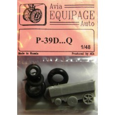 EQB-48028 Equipage 1/48 Rubber Wheels for Bell P-39D ...P-39Q20 Airacobra