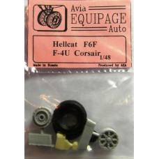 EQB-48039 Equipage 1/48 Rubber Wheels for Vought F4U Corsair