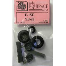 EQB-48058 Equipage 1/48 Rubber Wheels for McDonnell Douglas F-15E Strike Eagle