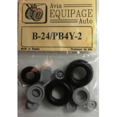 EQB-72002 Equipage 1/72 Rubber Wheels for Consolidated B-24 Liberator / PB4Y-2 Privateer