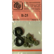 EQB-72003 Equipage 1/72 Rubber Wheels for North American B-25 Mitchell