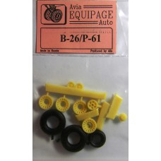 EQB-72004 Equipage 1/72 Rubber Wheels for Martin B-26A / B-26B Marauder