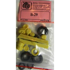 EQB-72006 Equipage 1/72 Rubber Wheels for Boeing B-29 / B-50 Superfortress