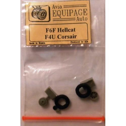 EQB-72021 Equipage 1/72 Rubber Wheels for Grumman F6F Hellcat