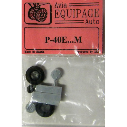 EQB-72030 Equipage 1/72 Rubber Wheels for Curiss P-40E ... P-40M Kittyhawk
