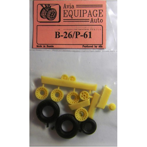 EQB-72036 Equipage 1/72 Rubber Wheels for Northrop P-61A / P-61B Black Widow