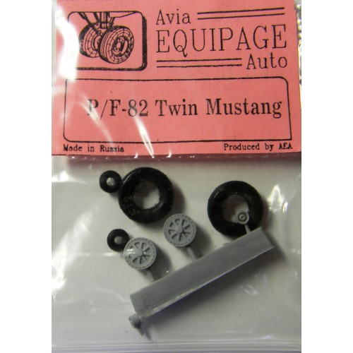EQB-72038 Equipage 1/72 Rubber Wheels for North American P-82 / F-82 Twin Mustang