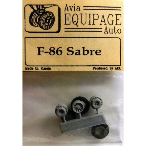 EQB-72045 Equipage 1/72 Rubber Wheels for North American F-86 Sabre