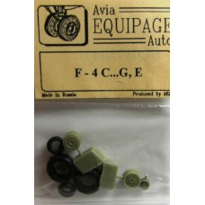 EQB-72047 Equipage 1/72 Rubber Wheels for McDonnell Douglas F-4C ... F-4G Phantom II