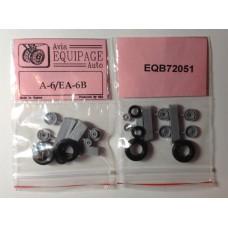 EQB-72051 Equipage 1/72 Rubber Wheels for Grumman A-6 Intruder / Northrop Grumman EA-6B Prowler