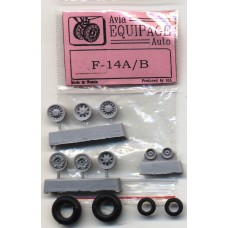 EQB-72055 Equipage 1/72 Rubber Wheels for Grumman F-14A / F-14B Tomcat